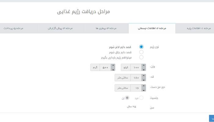 رژیم آنلاین دکتر کرمانی