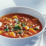 سوپ عدس و سبزیجات
