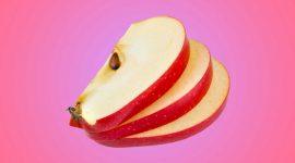سیب، هلو، موز و توت
