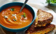 سوپ گوجه فرنگی خامه ای