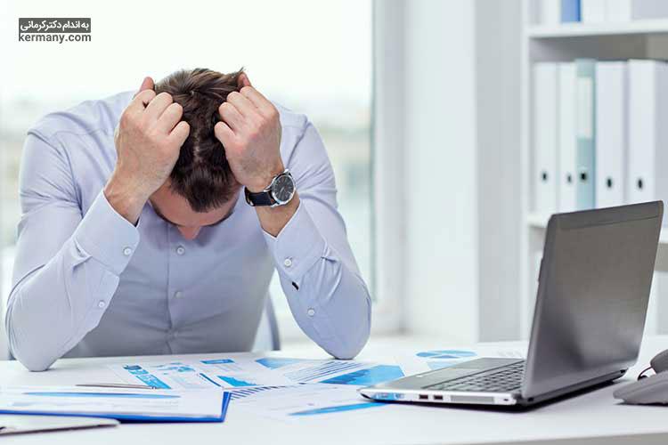 استرس یکی از دلایل اصلی ریزش مو است.