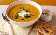سوپ هویج و عدس تند
