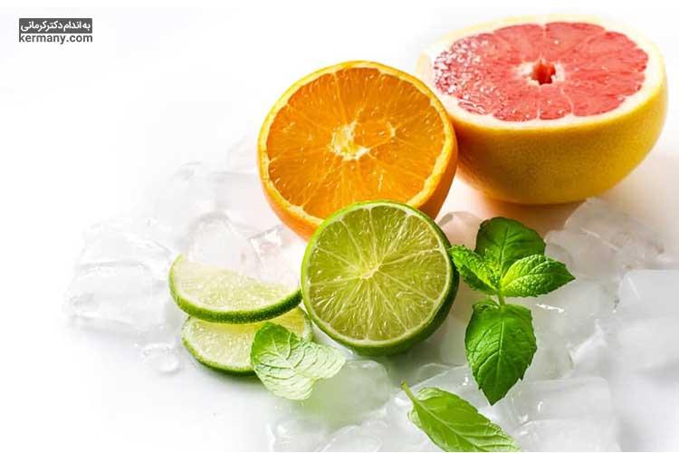 یکی از منابع اصلی ویتامین c میوهها و به خصوص مرکبات است.