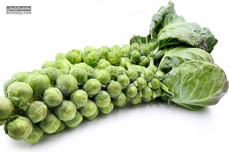 کلم بروکسل از جمله مواد غذایی حاوی ویتامین سی است.