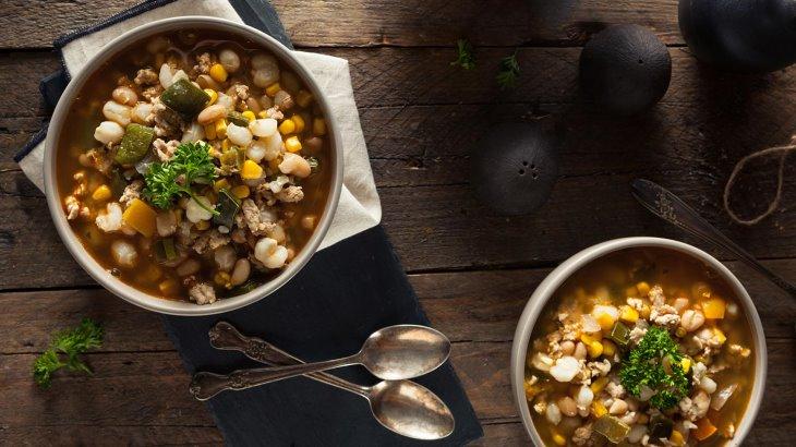 سوپ سبزیجات سرشار از لوبیا فیبر بسیار بالایی دارد