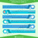 اینفوگراف: چگونه بوی بد دهان را در ماه رمضان از بین ببریم؟