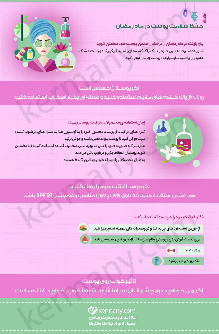 حفظ سلامت پوست در ماه رمضان دکتر کرمانی