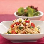 اسپاگتی کدو سبز به همراه لوبیا سفید آشپزی رژیمی