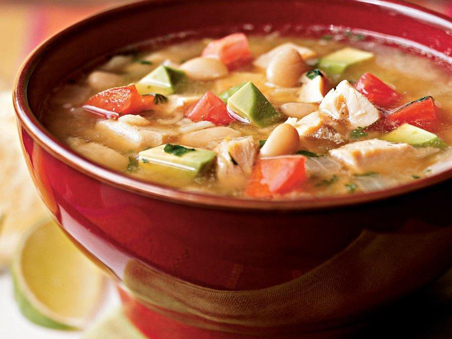 سوپ مرغ با لوبیا سفید رژیم لاغری