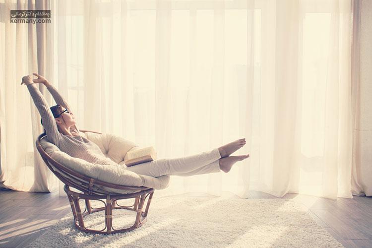 یکی از روش های تسکین دردهای مربوط به کیست تخمدان، ریلکس کردن و تن آرامی است.