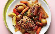 خوراک ران مرغ و سبزیجات رژیم لاغری