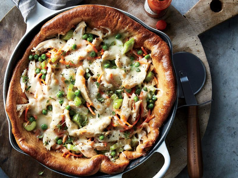 پیتزا مرغ ماهی تابه ای غذای رژیمی