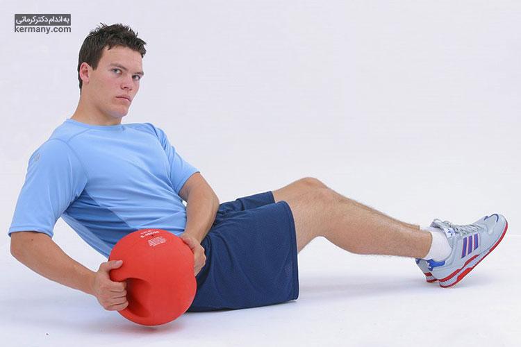 پیچ و تاب روسی یک حرکت ورزشی همراه با دمبل  است که به عضله سازی کمک زیادی میکند.