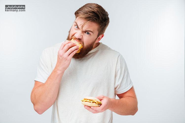 برخی افراد در اثر استرس دچار ولع غذایی میشوند که باعث چاقی ناشی از استرس در آن ها می شود.