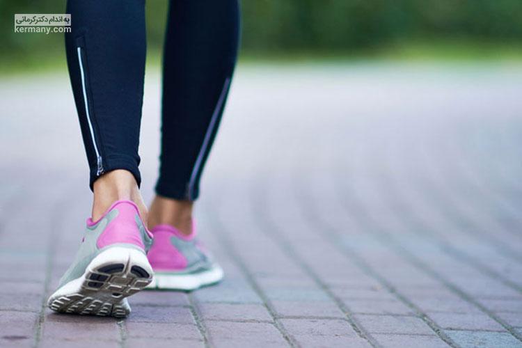 تاثیر پیاده روی بر لاغری شکم