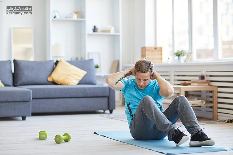 تمرینات ورزشی متعددی برای لاغری شکم و کاهش سایز وجود دارد که از انواع آن میتوان به انواع پلانک، دراز نشست و ... اشاره کرد.