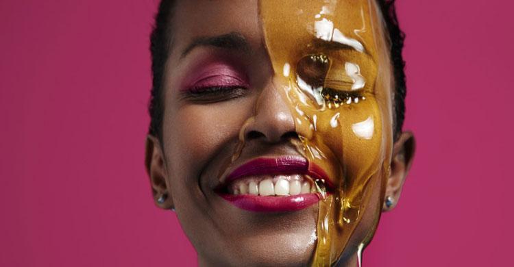 چاق شدن صورت با عسل