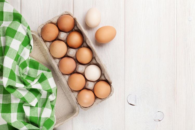 لاغری با تخم مرغ