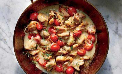 طرز تهیه خوراک مرغ و گوجه فرنگی