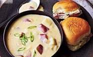 سوپ سیب زمینی پنیری
