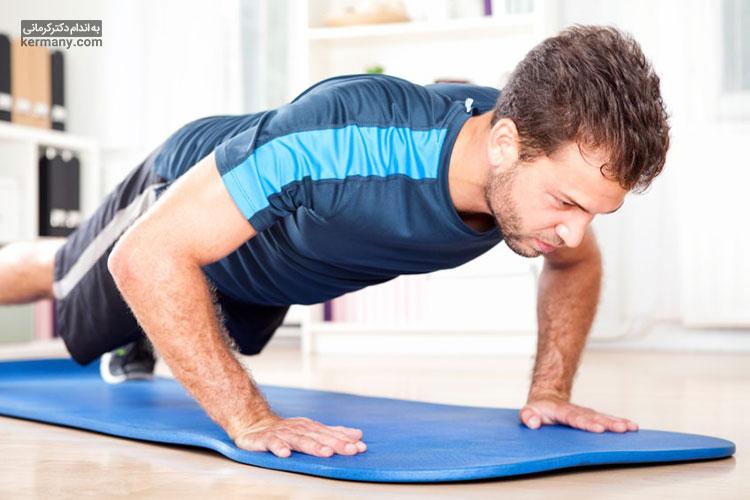 یکی از ورزش ها برای لاغری شکم چرخش به صورت طاق باز است.