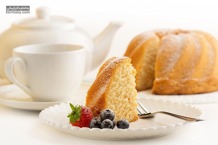 کیک وانیلی کتوژنیک