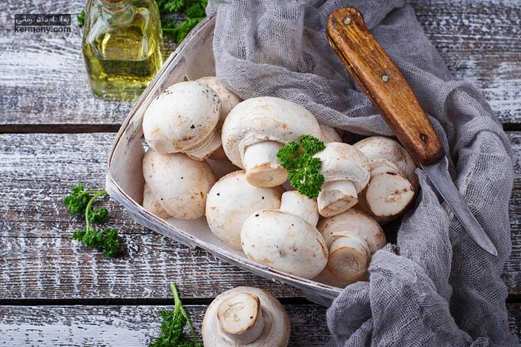 قارچ در رژیم سبزیجات
