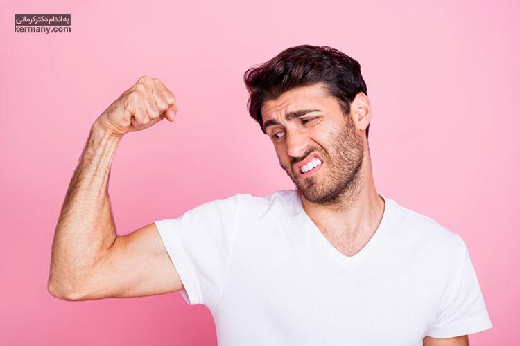 اختلالات هورمونی در مردان میتواند باعث کاهش توده عضلانی آنها شود.