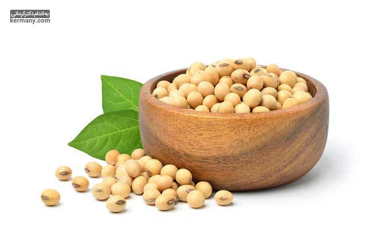 دانه سویا یکی از منابع مهم پتاسیم است.